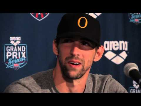 Michael Phelps 100 Butterfly Post Race Video Interview - 2014 Arena Grand Prix at Mesa
