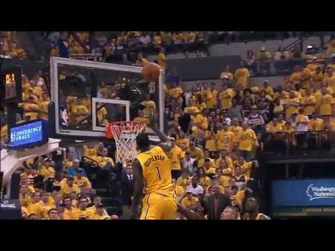Lance Stephenson Beats the Halftime Buzzer with the Tip-In!