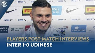 """INTER 1-0 UDINESE   MAURO ICARDI INTERVIEW: """"We had to send a message"""""""