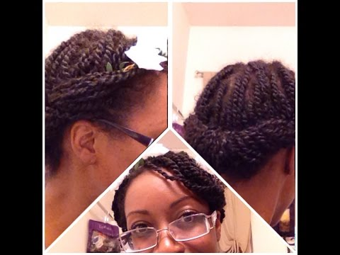 Unbelievably quick protective style for mini-twists