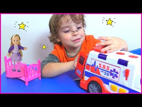 Makar and 5 little dolls jumping  in the bed Funny song for kids