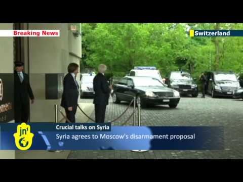 John Kerry meets with Russian counterpart Sergey Lavrov to discuss Syrian chemical weapons plan