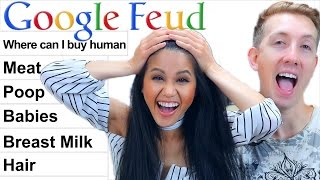 GOOGLE FEUD Challenge w/ my GIRLFRIEND (Vy Qwaint)