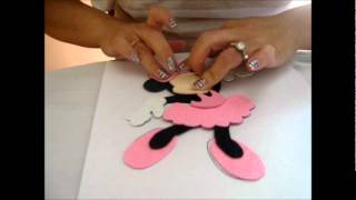 CENTRO DE MESA =MINNIE MOUSE=