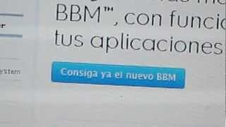 Como Descargar Blackberry Messenger O BBM
