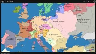 Politická Mapa Evropy 1000-2005
