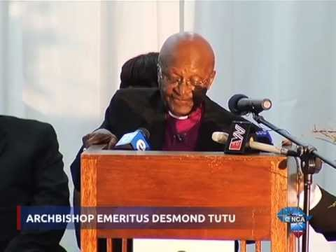 Tutu addresses violence against women and children in South Africa.