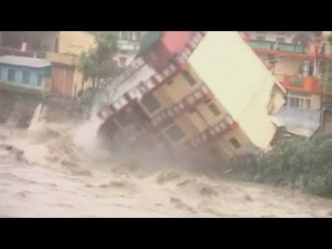 House swept away by floods in India