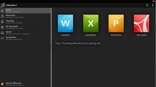 FreeApps4--Android: OfficeSuite Pro 7 (PDF & HD) app for Android (Word, Excel, PowerPoint) view on youtube.com tube online.