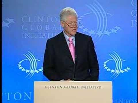 Bill Clinton Urges Community Involvement