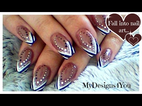 ABSTRACT BLACK AND WHITE TIP BROWN NAIL ART, TUTORIAL. HOW TO- ♥ MyDesigns4You ♥