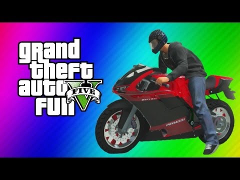 GTA 5 Online Funny Moments Gameplay - Motorcycle Jet, Garage Party, Running Glitch, Baseball, WAPOW!