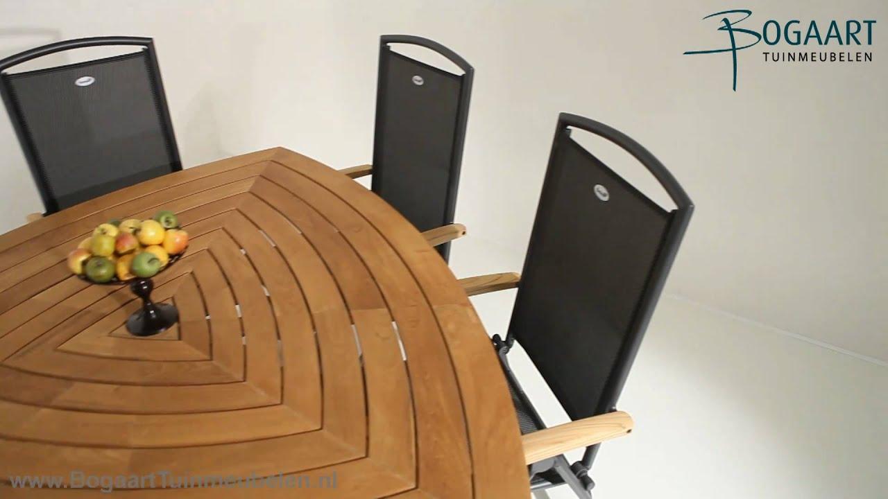 Hartman Tuinmeubelen, Triangle Tafel Aluminium   Passion verstelbare stoel   YouTube