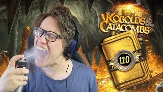 Opening 120 Kobolds and Catacombs Hearthstone Packs!
