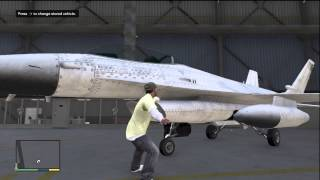 GTA 5 HOW TO STORE A JET FIGHTER IN YOUR HANGER