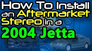 How To Install an Aftermarket Stereo in a 2004 Jetta - YouTube   2005 Jetta Stereo Wiring Harness      YouTube