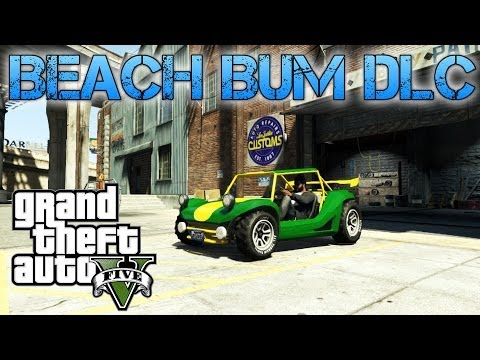 Grand Theft Auto V | BEACH BUM DLC | New cars and weapons gameplay