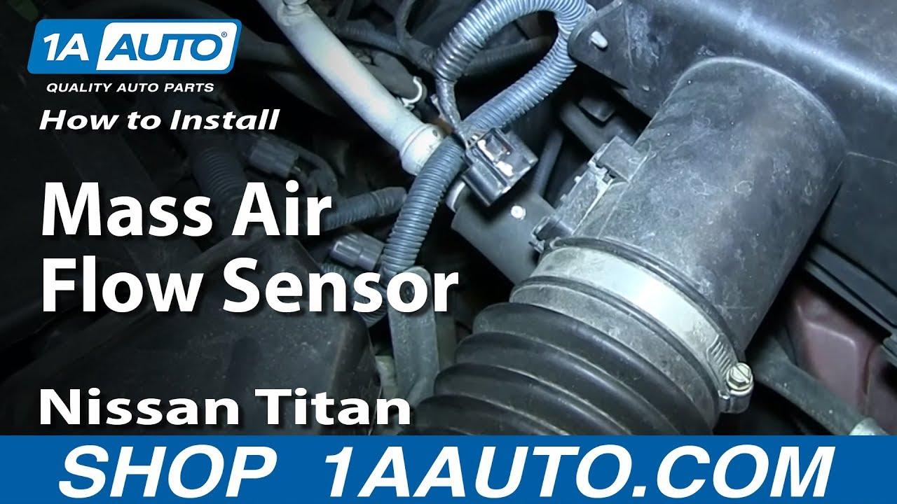 How To Install Replace Mass Air Flow Sensor Maf 2004