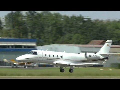 [HD]Gulfstream G-150 landing @ Altenrhein - 01/06/2014