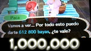 TRUCO 1,000,000 De Bayas En 10 Min Animal Crossing New Leaf