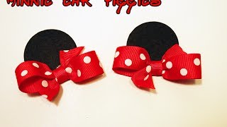 Minnie Mouse Inspired Ears Hair Bow Tutorial How To Make
