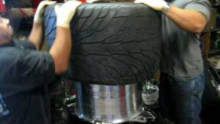 How To Install Super Huge Tires Onto A Rim