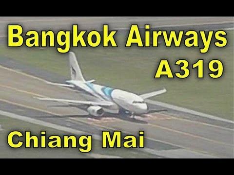 Bangkok Airways A319 Departs Chiang Mai - Viewed From Doi Suthep