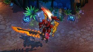 Mecha Aatrox Skin Spotlight Gameplay (League Of Legends