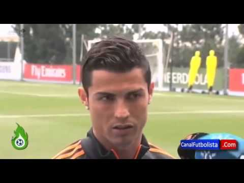 Cristiano Ronaldo gets angry on a reporter about his injury