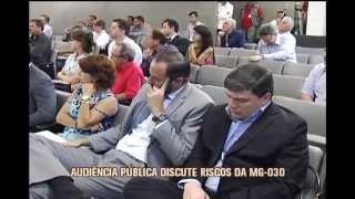 Audi�ncia p�blica discute risco na MG-030