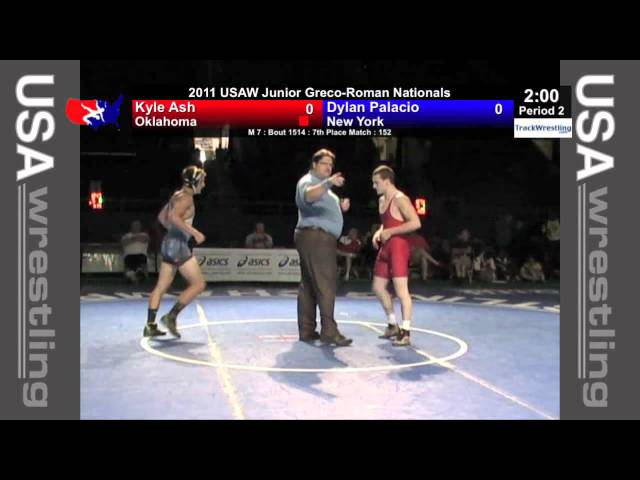 Junior Greco 7th 152 - Kyle Ash (OK) vs. Dylan Palacio (NY)