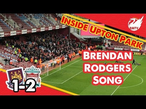 Locked In LFC Fans Sing Brendan Rodgers Song at West Ham