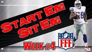 Week 4 Start'Em Sit'Em| Sleepers| Waivers| 2014