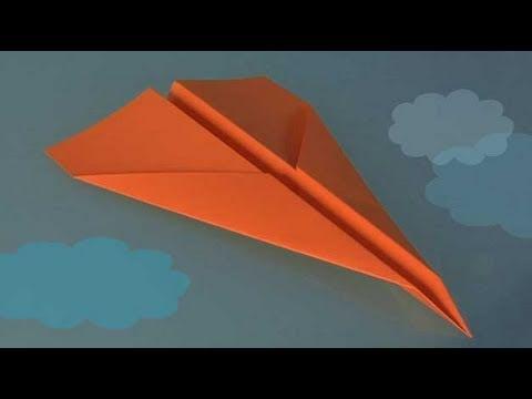 Comment faire origami, un avion en papier - YouTube