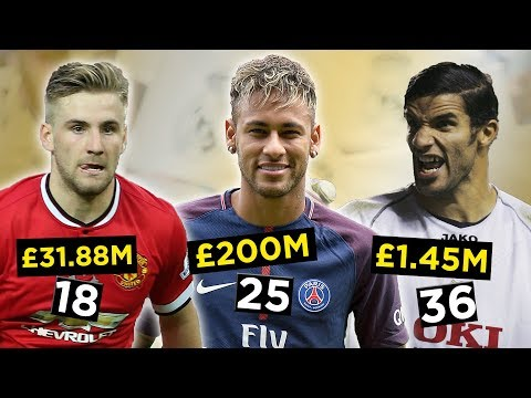 The Most Expensive Footballers Of Every Age (2017 Transfer Window Update)