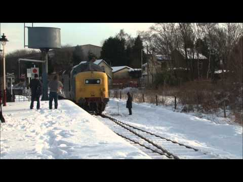 DELTIC 22 Cab Ride E.L.R. in the snow (part 1).26/1/13.  LOCO TV UK