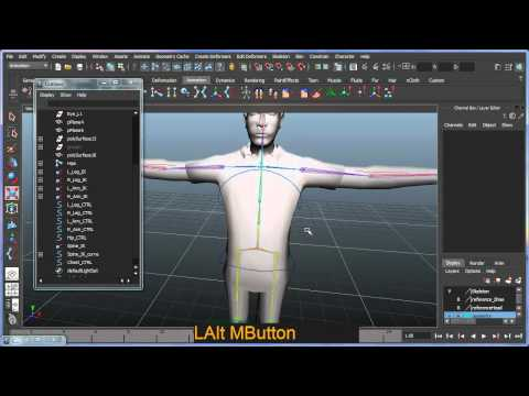 Basic bipedal character rigging setup in Maya - Part 5 of 7