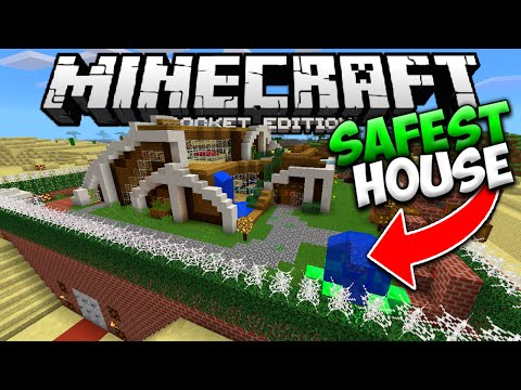 THE SAFEST HOUSE IN MINECRAFT POCKET EDITION (The World's Most Safe Redstone House)