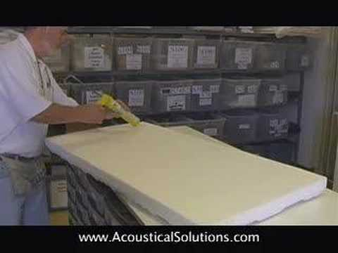 How to Install Acoustic Foam Panels with Adhesive