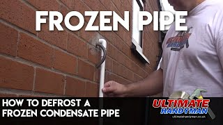 How to thaw Frozen pipes