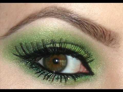 green eye shadow tutorial youtube