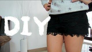 Como hacer Shorts de encaje