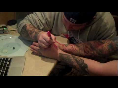 Behind the scenes with asking alexandria getting tattoos for Asking alexandria tattoo