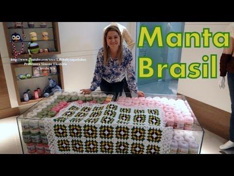 Passo a passo Manta em Crochê Brasil