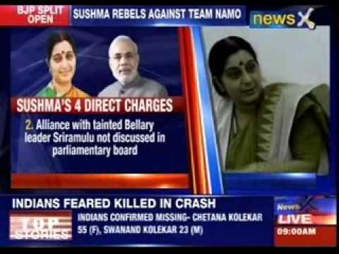 Sushma Swaraj rebels against team NaMo