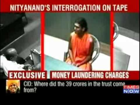 Godman  Nithyananda's interrogation on tape