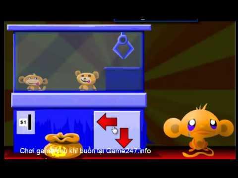 Chơi game chú khỉ buồn, video hướng dẫn chơi game hay chú khỉ buồn