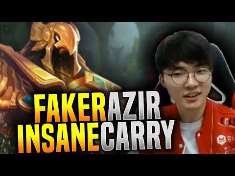 Faker IS NOT Human! Faker Insane Azir Carry! - SKT T1 Faker Plays Azir Mid!   SKT T1 Replays