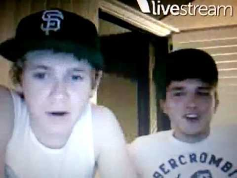 Niall swearing on Niall Horan and Josh Devine Twitcam Monday 18 June 2012