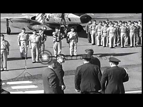 President John F Kennedy arrives at Homestead Airforce Base,US HD Stock Footage
